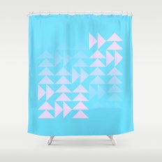 Rose Snowflake Shower Curtain