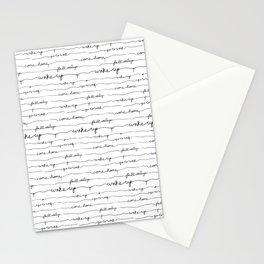 Every morning I am awake. Stationery Cards