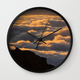 Sunset in La Palma Wall Clock