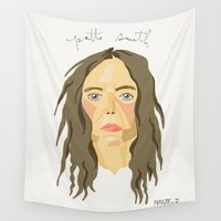 melissa smith Wall Tapestries featuring patti smith. by kasey rae