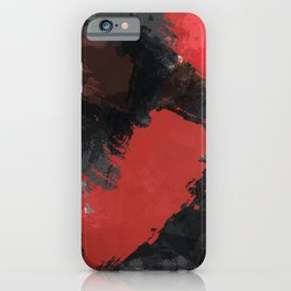 Red and Black Paint Splash iPhone Case