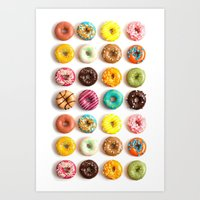 donuts Art Prints featuring Donuts by _popcorn