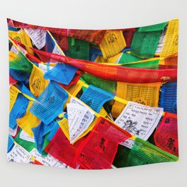 Colorful Tibetan prayer flags Wall Tapestry