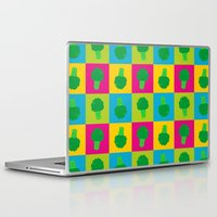 popart Laptop & iPad Skins featuring Popart Broccoli by XOOXOO