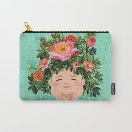 Spring Flower Girl Carry-All Pouch