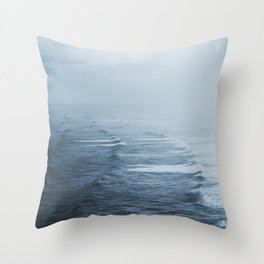 Storms over the Pacific Ocean Throw Pillow