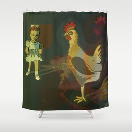 That girl was a nightmare... Shower Curtain