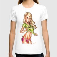 cara delevingne T-shirts featuring Cara Delevingne by Renato Cunha