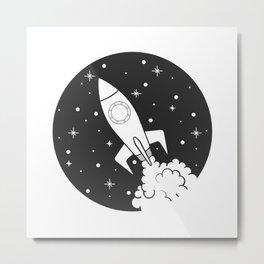 Rocket Trip Metal Print