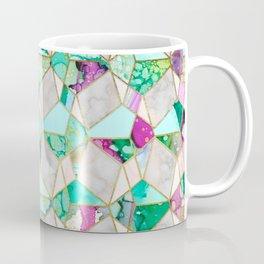 """Geometry is Fun"" Teal & Pink Coffee Mug"