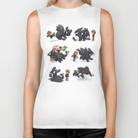hiccup Biker Tanks featuring How Not to Train Your Dragon by Dooomcat