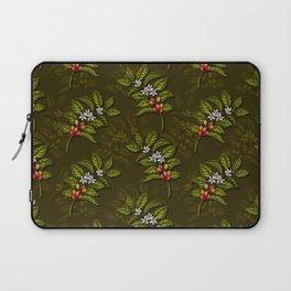 Coffee Plant Branches w/ Coffee Cherries & Flowers Laptop Sleeve