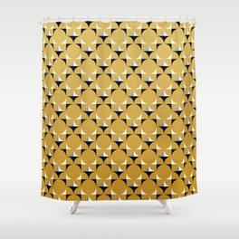Mod Gold Shower Curtain