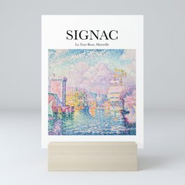 Signac - La Tour Rose, Marseille Mini Art Print