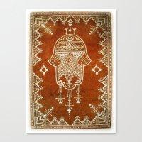 hamsa Canvas Prints featuring Hamsa by Our Folk Life