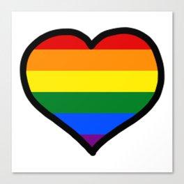 LGBT+ Rainbow Pride Heart Canvas Print
