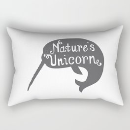 Narwhal Nature's Unicorn Rectangular Pillow