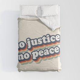 No Justice No Peace BLM 2020 Comforters