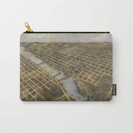 Aerial View of Grand Rapids, Michigan (1868) Carry-All Pouch