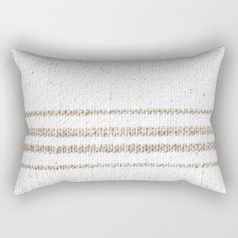 Vintage Farmhouse Grain Sack - Sandstone Stripes Rectangular Pillow