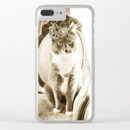Cats Rule! Clear iPhone Case