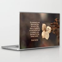 uncharted Laptop & iPad Skins featuring The Optimist  by Astrid Ewing