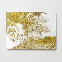 Aqua Metallic Series Skip Metal Print