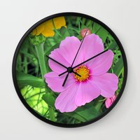 cosmos Wall Clocks featuring Cosmos by Bella Mahri-PhotoArt By Tina