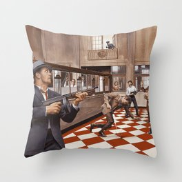Cops & Robbers Throw Pillow