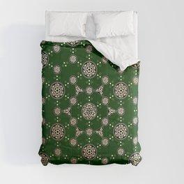 archaic pattern. crop circle. sacred geometry Comforters