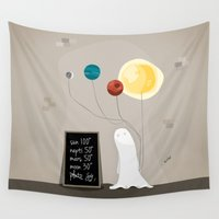 planet Wall Tapestries featuring Planet by Jane Mathieu