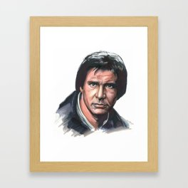 Han Solo Portrait Framed Art Print