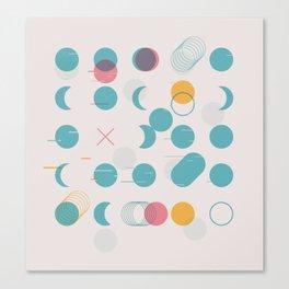 Circle Grid Canvas Print