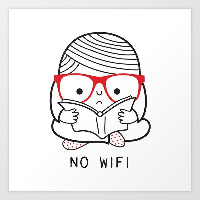 No wifi Art Print