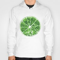 lime Hoodies featuring Lime by Kcin