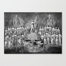 God, Liberty, and Constitutional Rights Canvas Print