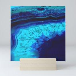 Royal Blue Turquoise Agate Mini Art Print