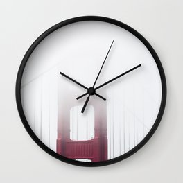 Golden Gate Bridge in Fog Wall Clock