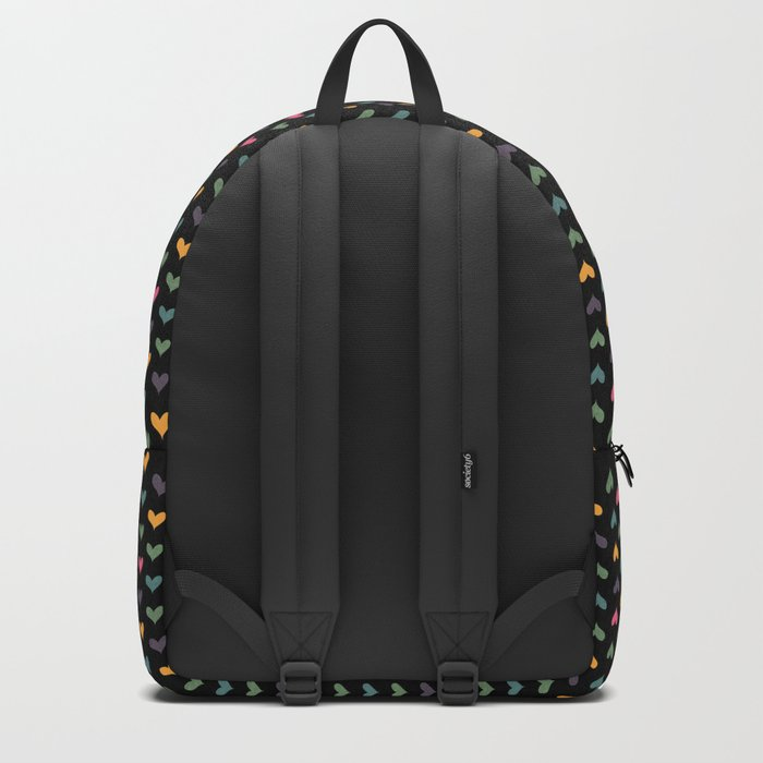 Small hearts on black Backpack