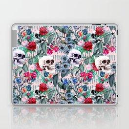 Flowers and Skulls (Pink) Laptop & iPad Skin