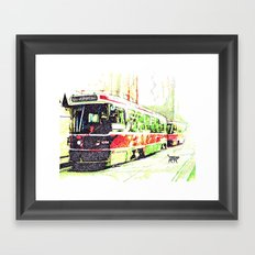 501 Street car Framed Art Print