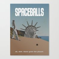 planet of the apes Canvas Prints featuring Spaceballs: Planet of the Apes by Preston Porter