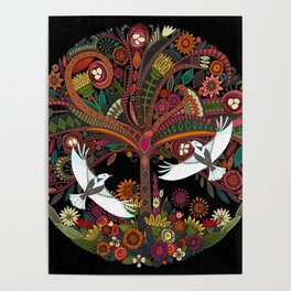 tree of life black Poster
