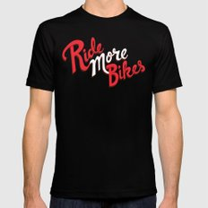 Ride More Bikes LARGE Mens Fitted Tee Black