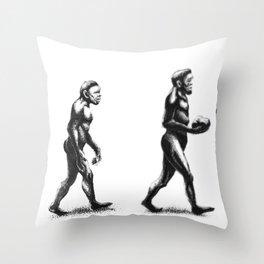 Bowling Evolution Throw Pillow