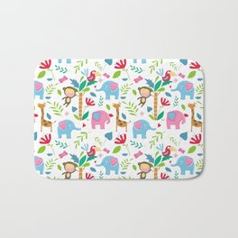 Kids Jungle Pattern Bath Mat