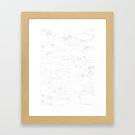 land of 15 towns and a cemetary Framed Art Print