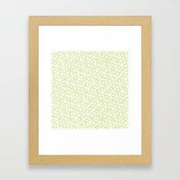 Jali Fusion - Green Framed Art Print