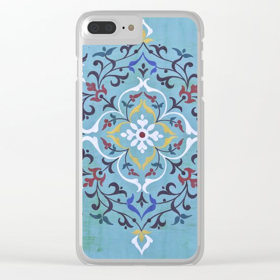 Calligraphy Flower Clear iPhone Case