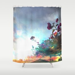 Storm of a Green Thumb Shower Curtain